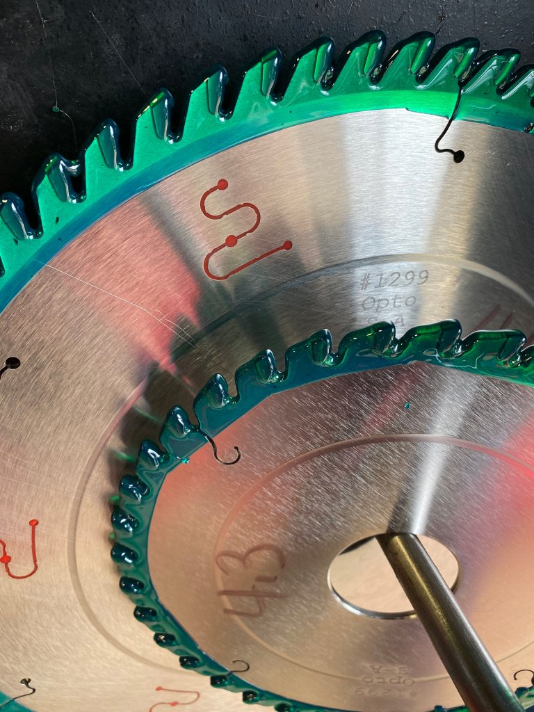 Saw Blades Serviced at Total Tooling Technology.